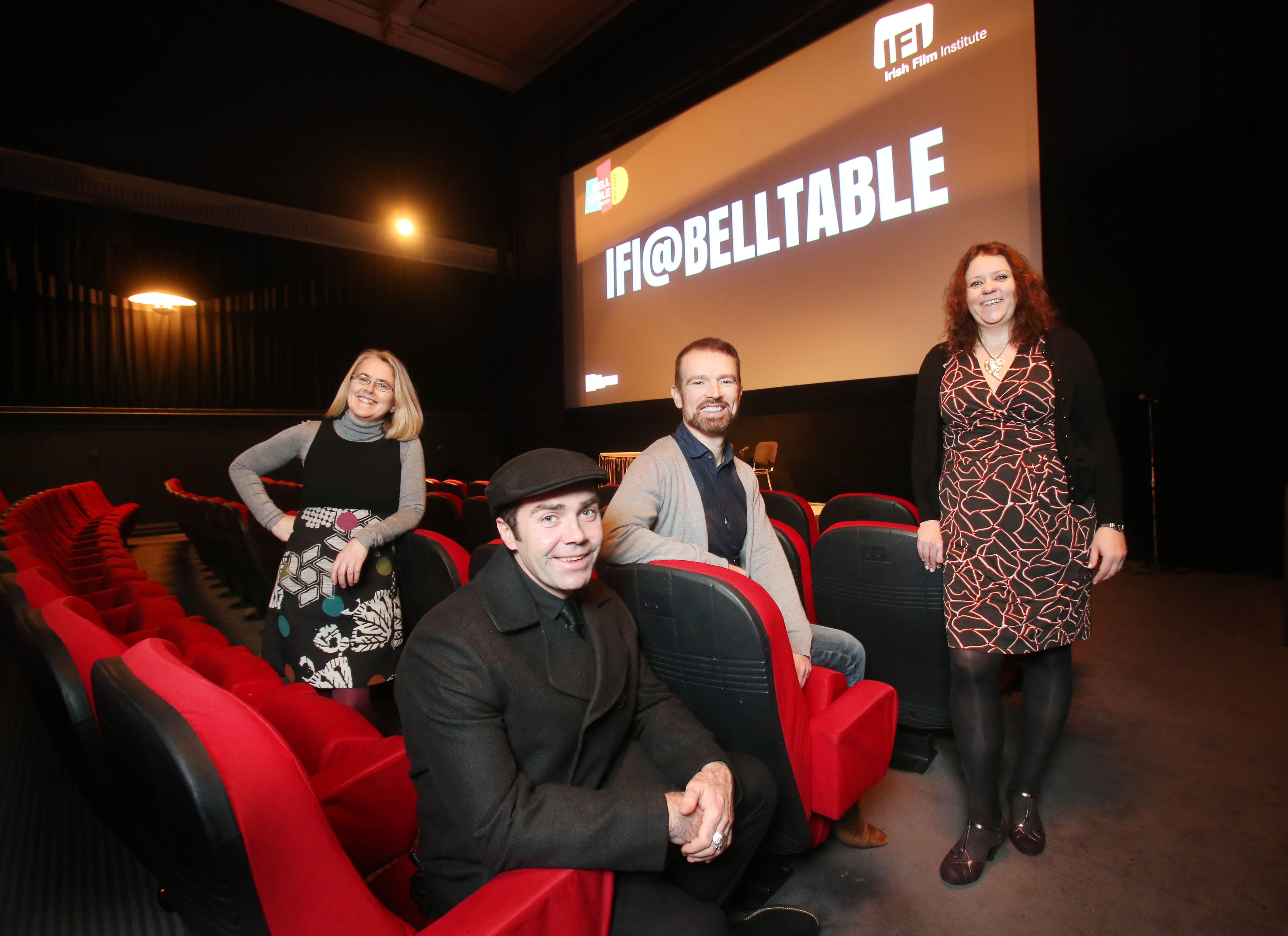 NO REPRO FEE. 5/12/2016. The Irish Film Institute and Belltable are delighted to announce a new partnership called IFI@Belltable. From January 2017 Limerick cinema audiences will enjoy films directly selected from the Irish Film Institute monthly programme. Actor Pat Ryan , Louise Donlon, Director of Lime Tree Theatre, Ross Keane Director of the IFI and Marketa Dowling, Programme Manager of Belltable were in the IFI this morning to announce this new partnership. Photo: Leon Farrell/Photocall Ireland.