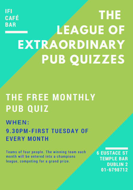 Irish Film Institute -Free Monthly Pub Quiz