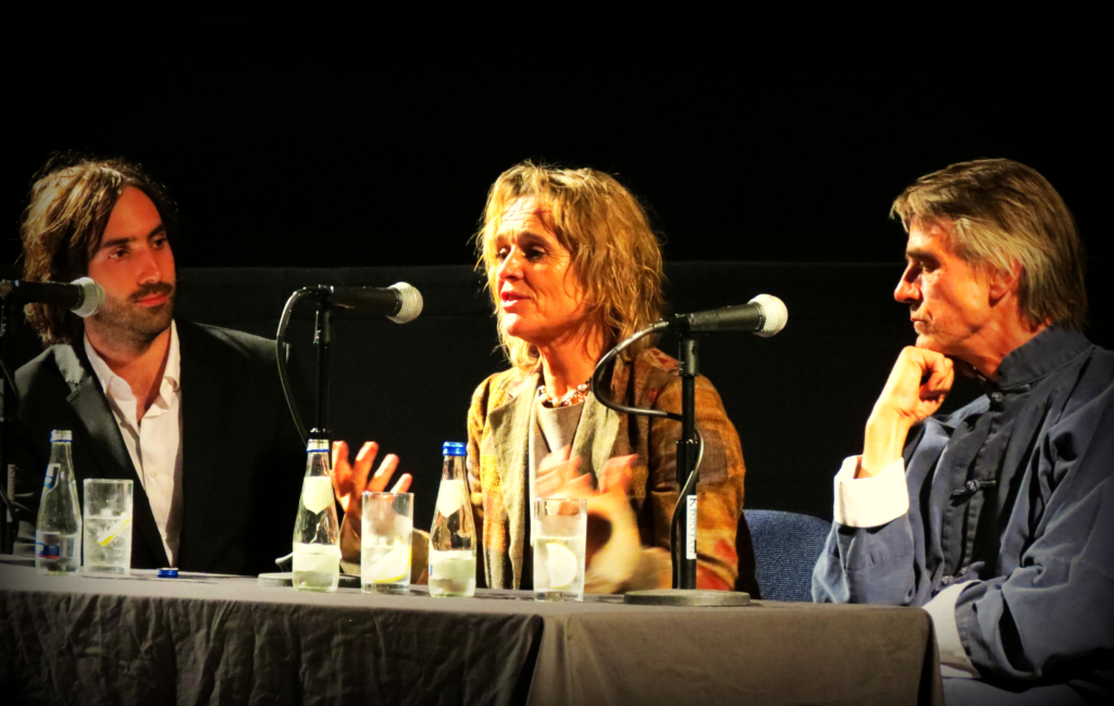 Paul Lynch, Sinead Cusack and Jeremy Irons at the IFI - Sep 2012